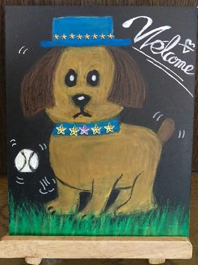 クレパスで可愛い犬