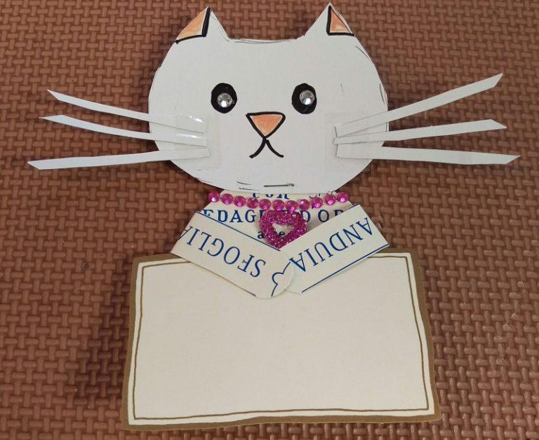 ネコメッセージカード入れの作り方How to make a cat message card   holder