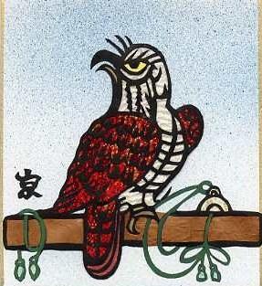 木の上で休む鷹